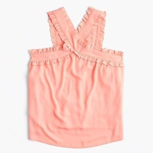 NWT J Crew Coral Criss-Cross Front Tank